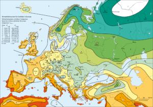 Карта зон морозостойкости